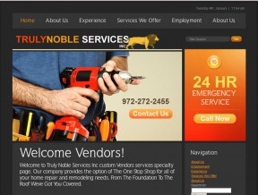 Specializing in Real Estate Maintenance, but also doing work in several other areas, this company showcases their many products and services with a Guestbook to  ...