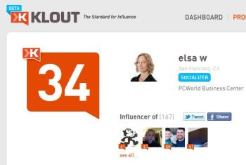 Klout attempts to give your influence a numeric score. Hey, we can't all be Lady Gaga.