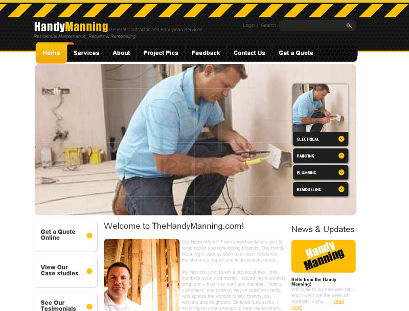 Home Improvement Sites dallas home improvement web designer :: your web guys