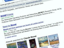 Monet Search with Knowledge Graph