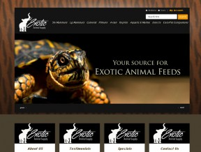 New Responsive E-Commerce Website Design This company, as their name suggests, specializes in exotic animals.  They supply feed and nutritional supplements as well as habitats  ...