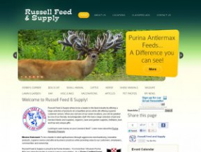 New version of Russell Feed's Website This multi-location feed company not only needed a better solution to their content updating needs, but also a  ...