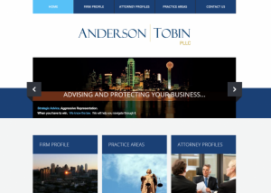 Dallas Attorney Website Design for Anderson Tobin
