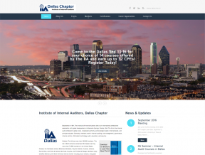 The Dallas Chapter of theInstitute of Internal Auditors had an older website with lots of content. They trusted Your Web Guys to  ...