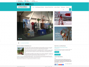 The Backyard Windmills owner was ready to take his website from outdated and not so easy to navigate to a brand new responsive web design  ...
