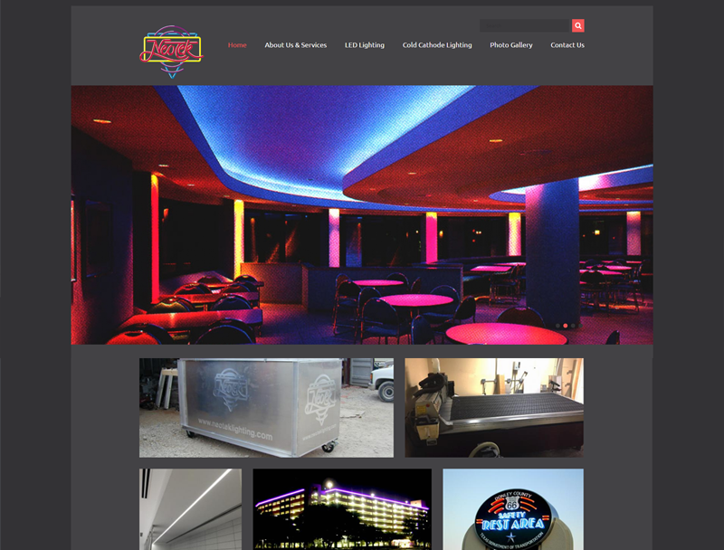 Lighting Website Design For Neotek Inc Your Web Guys