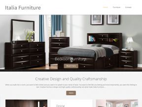 Italia Furniture Dallas offers sleek, sophisticated design for every room in your home or office!  Your Web Guys was happy assist them with setting up  ...