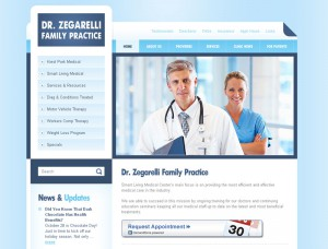 A new medical web design for dir zegarelli family practice