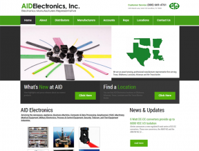 AID Electronics offers professional representation to leading manufacturers of electronics/electro-mechanical components and power supplies servicing Texas, Oklahoma, Arkansas, Louisiana and Texas/Mexico Border.  When  ...