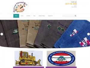 Screenshot for Custom Thread Art website.