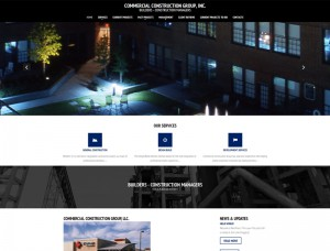 A screenshot of the Commercial Construction Group, LLC website.