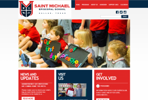 Screenshot of Saint Michael Episcopal School Website